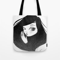 cigarette Tote Bags featuring cigarette by Caitlin Roberts