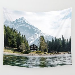 Mountains And Lake Wall Tapestry