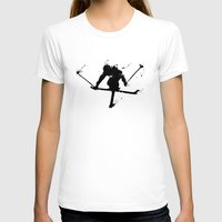 ski T-shirts featuring Ski jumper  by Richard Eijkenbroek
