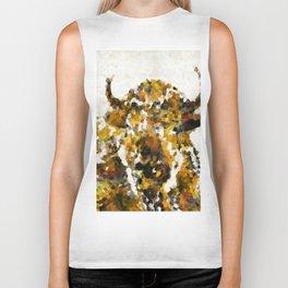 Modern Yellow Buffalo Art by Sharon Cummings Biker Tank