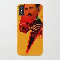 tesla iPhone & iPod Cases featuring Tesla by Chincol