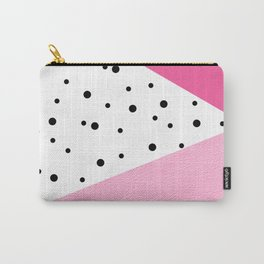 Black dots & pink leader Carry-All Pouch