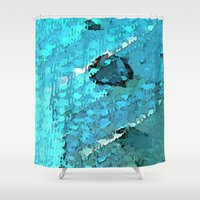 voyage Shower Curtains featuring Voyage by Paul Kimble