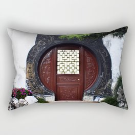 The Round Red Door Rectangular Pillow