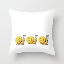 I Just Really Like Snails Ok Cute Sluggish Silhouette Throw Pillow