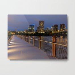 T. Tyler Potterfield Memorial Bridge At Night Metal Print