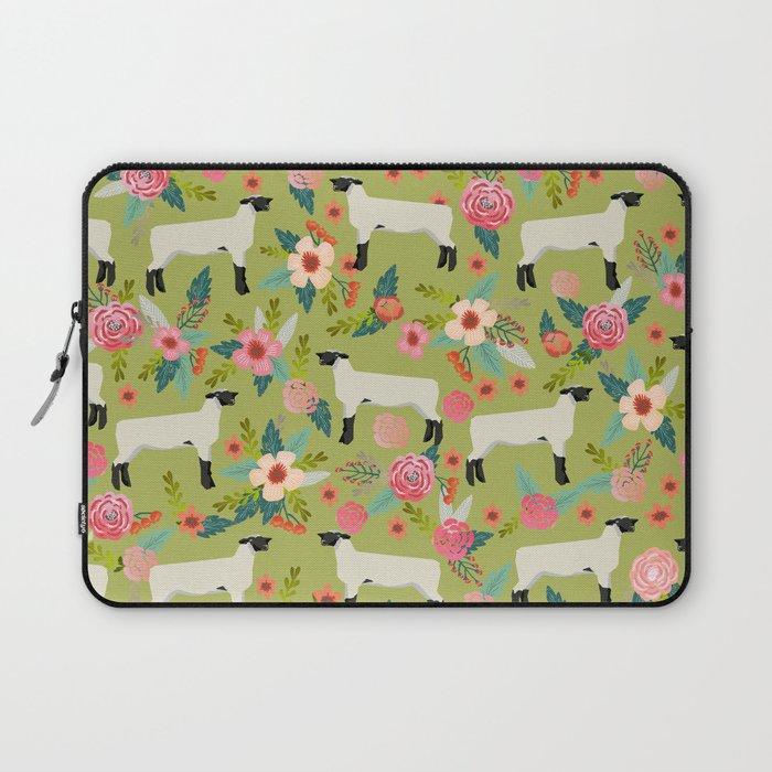 Show Lamb farm floral gifts homesteader farming sheep lamb animal Laptop  Sleeve
