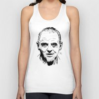 silence of the lambs Tank Tops featuring Hannibal Lecter Sketch - The Silence of the Lambs by Soyarts