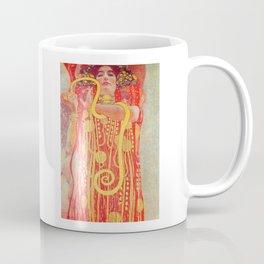 Gustav Klimt - Greek Goddess of Medicine Hygeia Coffee Mug