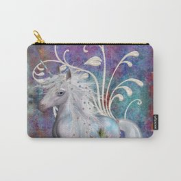 Fantasy Unicorn Floral Art Carry-All Pouch
