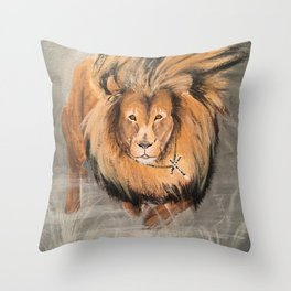 Roaring Like A Lion Throw Pillow
