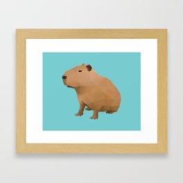 Capybara Polygon Art Framed Art Print