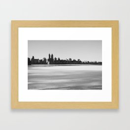 New York Snowscape Framed Art Print