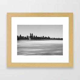 New York Snowscape Framed Art Print