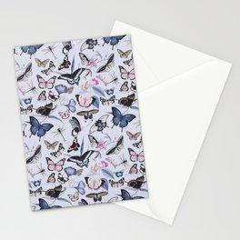 Nostalgic Pastel Butterfly And Flower Pattern Stationery Cards