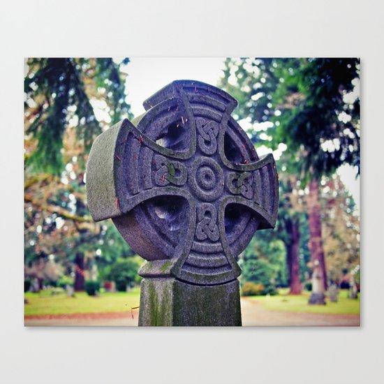 Celtic gravestone Canvas Print