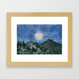 Starry Night Sunrise Framed Art Print