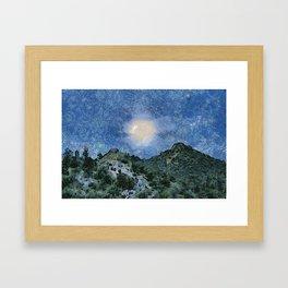 Starry Night Sunrise Framed Art Print