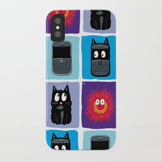 Don't Let Your BlackBerry Turn into Exploding Cats.  iPhone Case