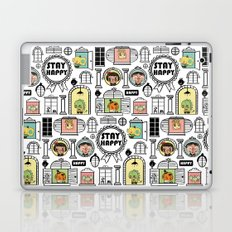Pattern Stay Happy Animals Laptop & iPad Skin
