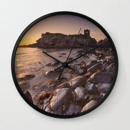 Sunrise at Kinbane Castle in Northern Ireland Wall Clock
