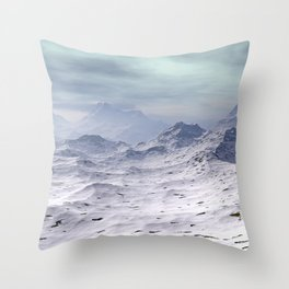 Snow Covered Mountains Throw Pillow
