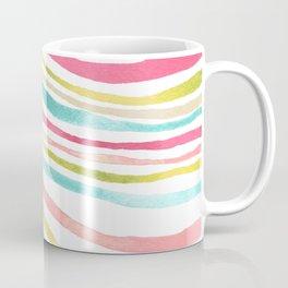 Colorful Watercolor Waves Explore Coffee Mug