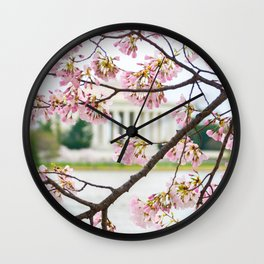 Jefferson through the Blossoms Wall Clock