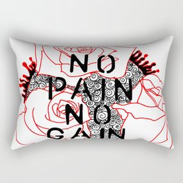 NoPainNoGain Rectangular Pillow