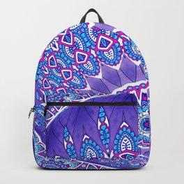 Indian Patterns Mandala Ball - Blue Pink White Backpack