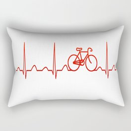 BICYCLE HEARTBEAT Rectangular Pillow