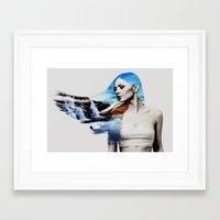 frozen Framed Art Prints featuring Frozen by EclipseLio
