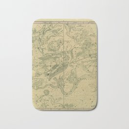 Atlas, Designed to Illustrate the Geography of the Heavens, plate IV (1850) Bath Mat
