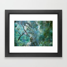 deeper she goes Framed Art Print