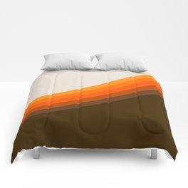 Golden Horizon Diptych - Right Side Comforters