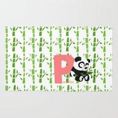 p for panda Rug