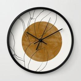 Line Art Home Plant Wall Clock