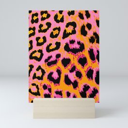 Gold and Pink Leopard Spots Mini Art Print