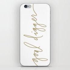 Goal Digger - Gold Print  iPhone & iPod Skin