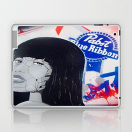 pabst blue ribbon robot lady 2 Laptop & iPad Skin