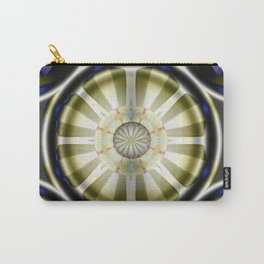Pinwheel Hubcap in Sepia Carry-All Pouch