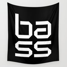 Bass Block Music Quote Wall Tapestry