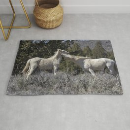 Wild Horses with Playful Spirits No 7 Rug