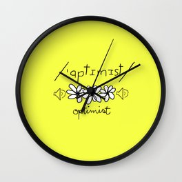 Phonetic Optimist Wall Clock