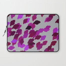Pink Camouflage Leaves with Border Laptop Sleeve