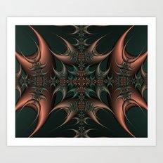 Thorn Cross Art Print