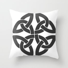 Celtic Shamrock Tribal Knot Throw Pillow