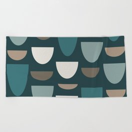 Turquoise Bowls Beach Towel