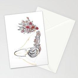 rose shower Stationery Cards