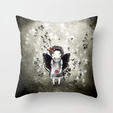 Lady Moth Throw Pillow